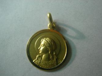 medalla santa cristina oro plata