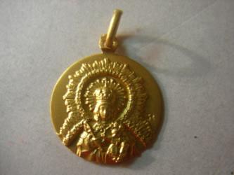 medalla virgen de la paz oro plata