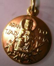 medalla arantzazu oro plata