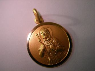 medalla san francisco javier oro plata