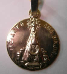 medalla virgen itziar oro plata