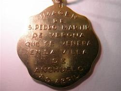medalla san pedro martir oro plata