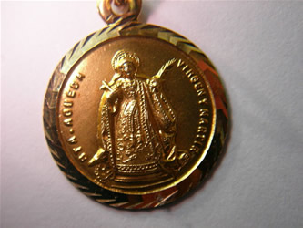medalla santa agueda oro plata