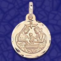 medalla bautismo