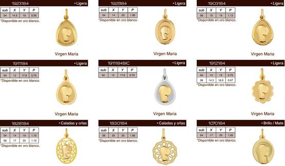 medallas religiosas oro
