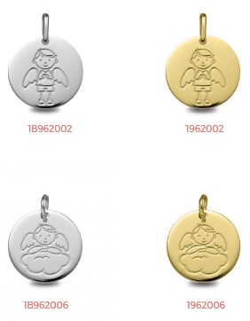 medallas comunion oro plata