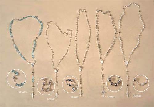 rosarios plata
