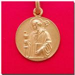 medalla San Benito anciano