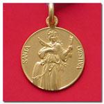 medalla Santa Cristina