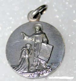 medalla san francisco de asis