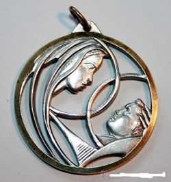medalla calada virgen jesus
