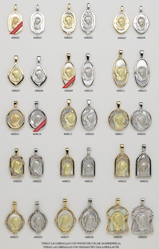 medallas oro plata nacar
