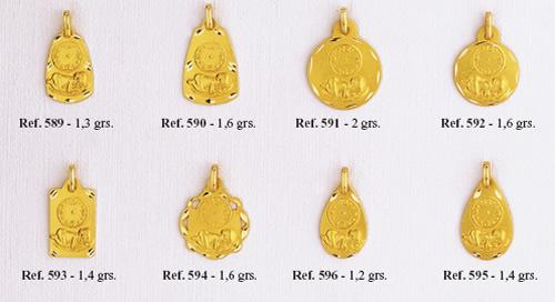 medallas bebe reloj