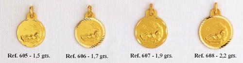 medallas bebe pajas
