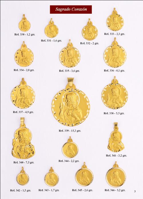 medalla sagrado corazon