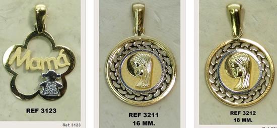 medallas infantiles oro