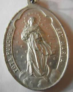 medalla inmaculada purisima