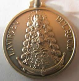 medalla virgen del rocio redonda