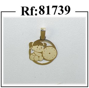 medalla nena reloj