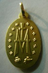 medalla milagrosa oro plata