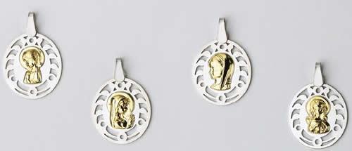 medallas plata oro